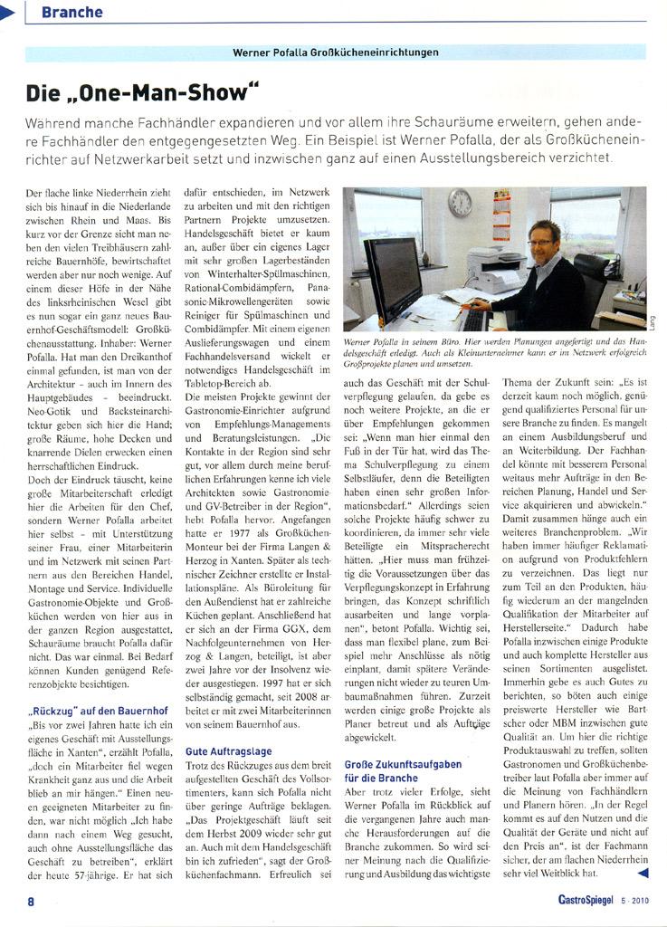 Werner pofalla gmbh presse for Spiegel aktuell